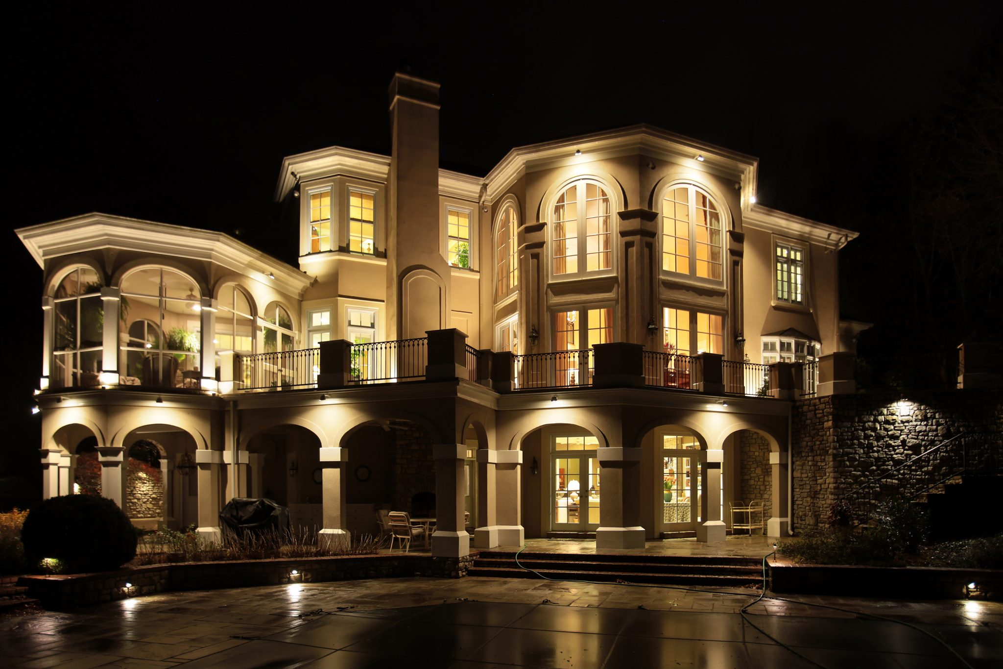 2016 lighting awards the association of outdoor lighting lighting award of merit large residential lighting david reed clvlt niteliters inc project river green manor mozeypictures Image collections